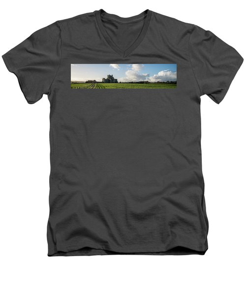 Dunbrody Abbey Men's V-Neck T-Shirt by Martina Fagan