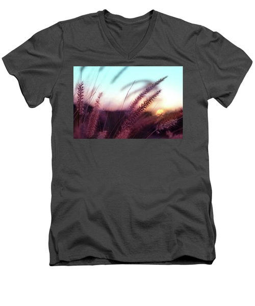 Men's V-Neck T-Shirt featuring the photograph Dune Scape by Laura Fasulo