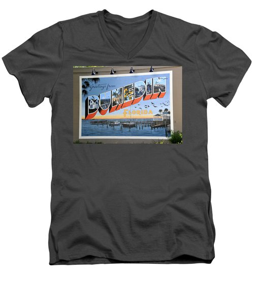 Dunedin Florida Post Card Men's V-Neck T-Shirt