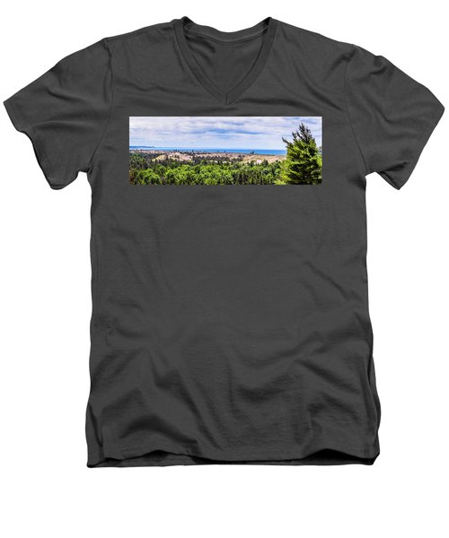 Dunes Along Lake Michigan Men's V-Neck T-Shirt