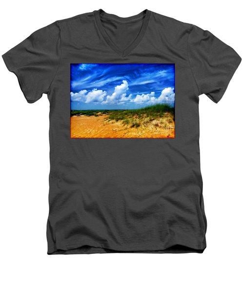 Dunes At Bald Head Island Men's V-Neck T-Shirt by Judi Bagwell