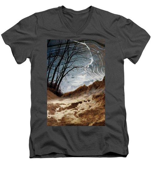 Dunes Men's V-Neck T-Shirt by Joan Ladendorf