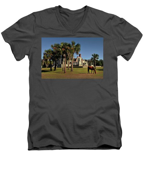 Men's V-Neck T-Shirt featuring the photograph Dungeness  by Jessica Brawley