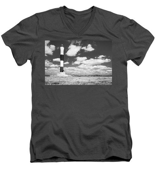 Dungeness Lighthouse. Men's V-Neck T-Shirt