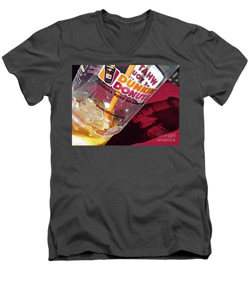 Dunkin Ice Coffee 29 Men's V-Neck T-Shirt