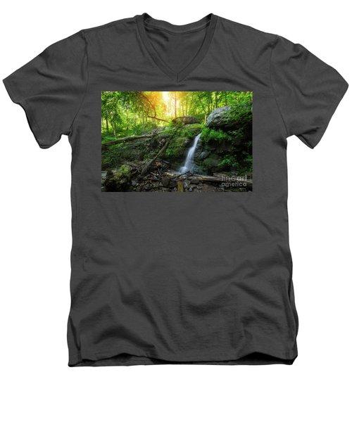 Dunnfield Creek Sunrise  Men's V-Neck T-Shirt