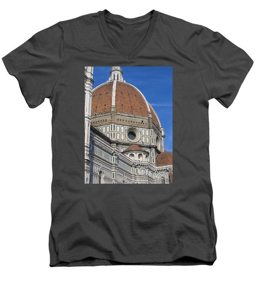 Duomo Cathedral Florence Italy  Men's V-Neck T-Shirt by Lisa Boyd