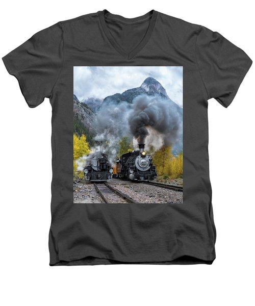 Durango Silverton Train Men's V-Neck T-Shirt