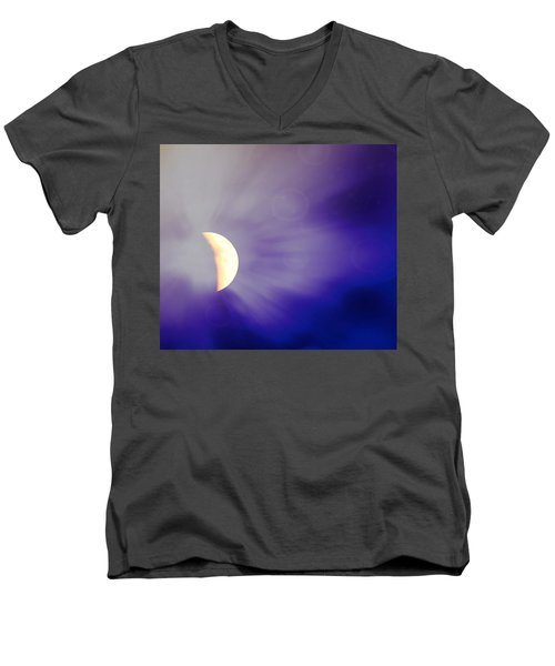 Aries Moon During The Total Lunar Eclipse 3 Men's V-Neck T-Shirt