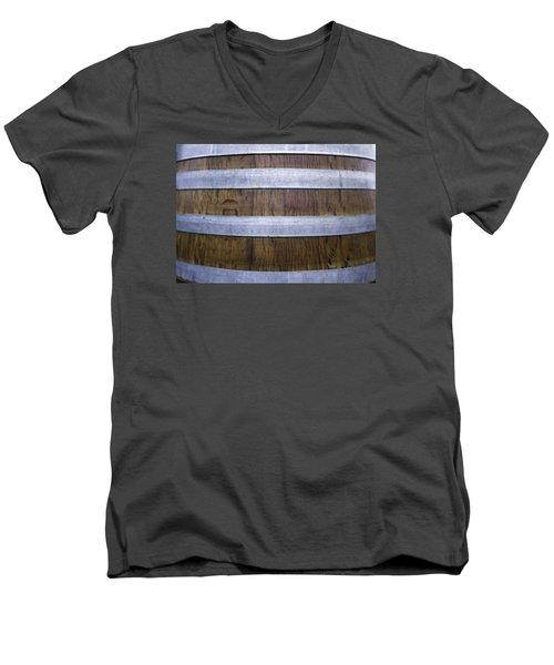 Durmast Barrel Men's V-Neck T-Shirt by Cesare Bargiggia