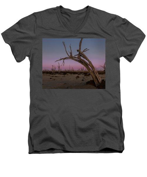 Dusk At Dumbleyung Lake Men's V-Neck T-Shirt