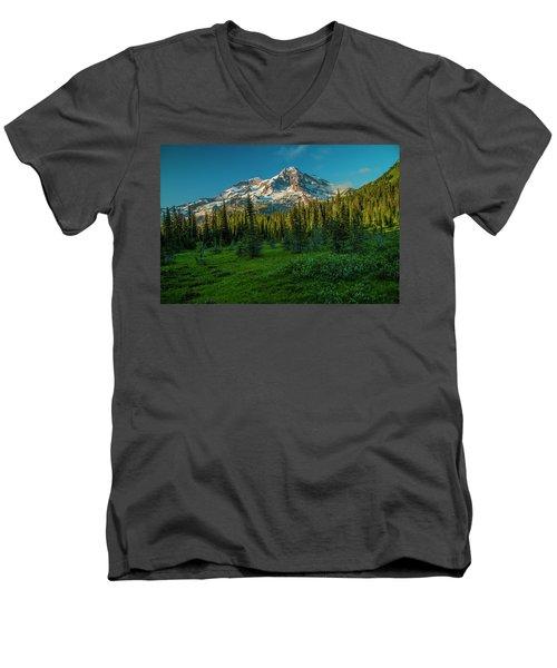 Dusk At Indian Henry Campground Men's V-Neck T-Shirt