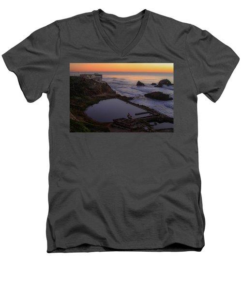 Dusk At Sutro Baths Men's V-Neck T-Shirt