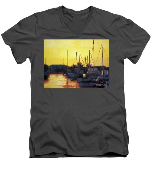 Dusk At The Marina Men's V-Neck T-Shirt