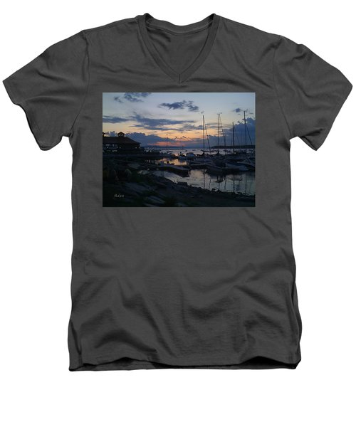 Dusk Begins To Sleep Men's V-Neck T-Shirt by Felipe Adan Lerma