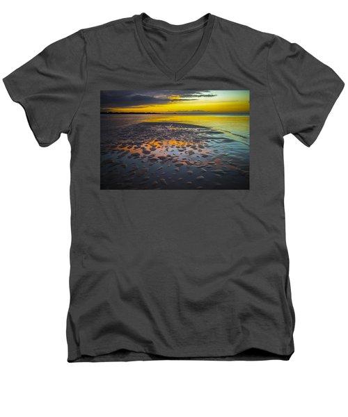 Dusk On Cayo Coco Men's V-Neck T-Shirt by Valerie Rosen