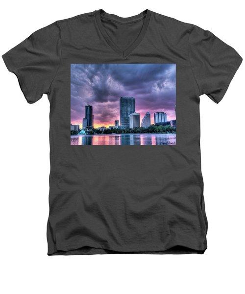 Dusky Downtown Orlando, Florida Men's V-Neck T-Shirt