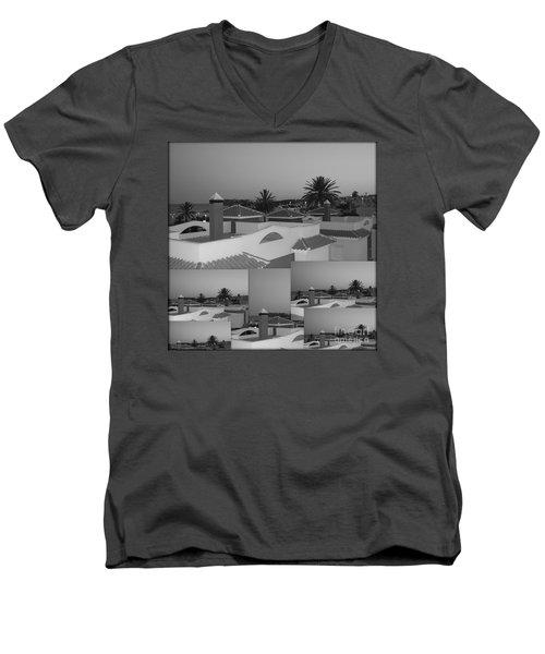 Dusky Rooftops Men's V-Neck T-Shirt
