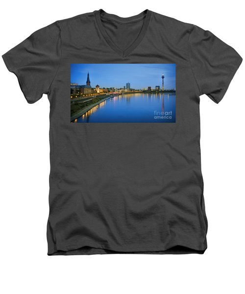Dusseldorf Skyline  Men's V-Neck T-Shirt