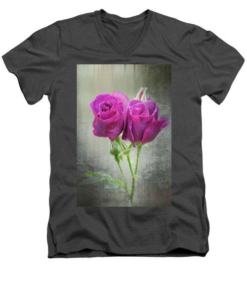 Dusty Roses Men's V-Neck T-Shirt