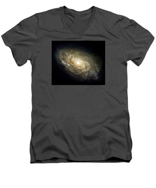 Dusty Spiral Galaxy  Men's V-Neck T-Shirt by Hubble Space Telescope