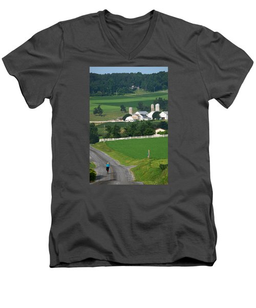 Dutch Country Bike Ride Men's V-Neck T-Shirt by Lawrence Boothby