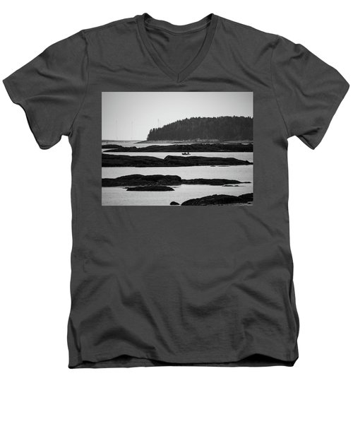 Men's V-Neck T-Shirt featuring the photograph Dwon East Maine  by Trace Kittrell