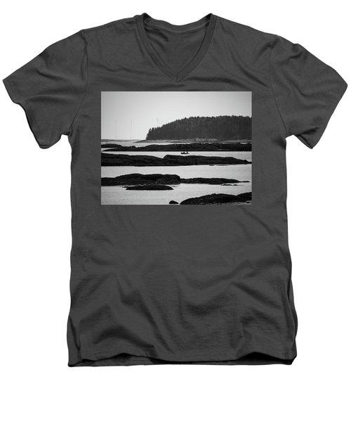 Dwon East Maine  Men's V-Neck T-Shirt by Trace Kittrell