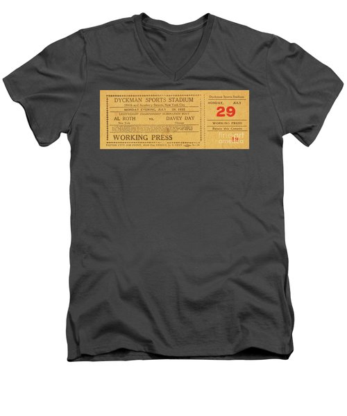 Men's V-Neck T-Shirt featuring the photograph Dyckman Oval Ticket by Cole Thompson