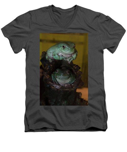 Dynamic Duo Men's V-Neck T-Shirt