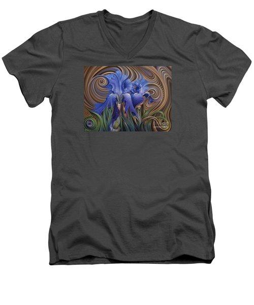 Dynamic Iris Men's V-Neck T-Shirt