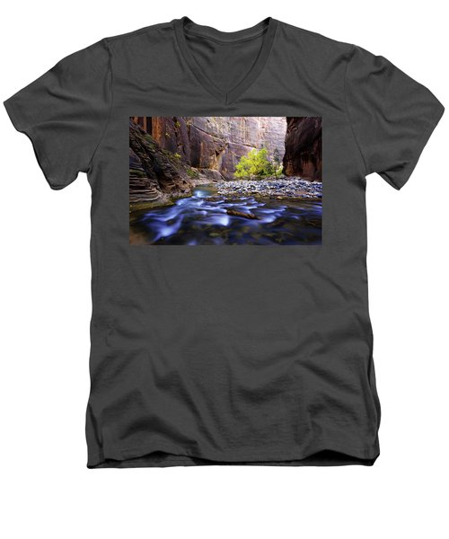 Men's V-Neck T-Shirt featuring the photograph Dynamic Zion by Chad Dutson