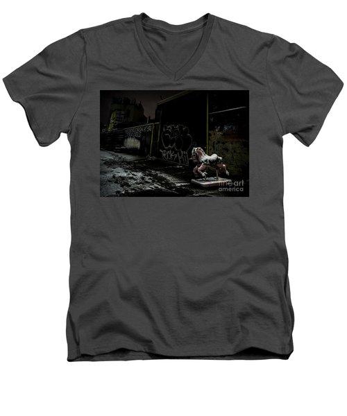 Dystopian Playground 1 Men's V-Neck T-Shirt by James Aiken