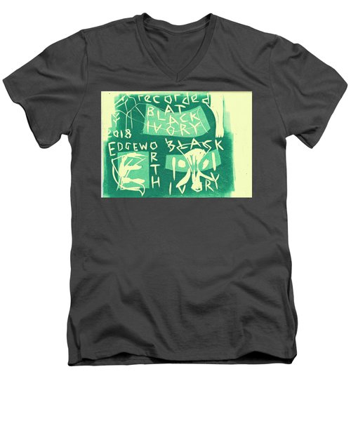 E Cd Green Men's V-Neck T-Shirt