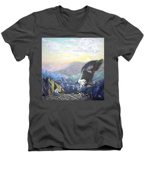Eagle At Home Men's V-Neck T-Shirt