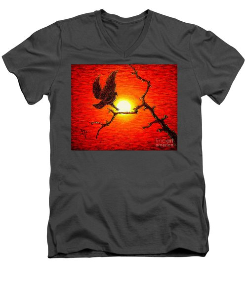 Eagle B2 Men's V-Neck T-Shirt