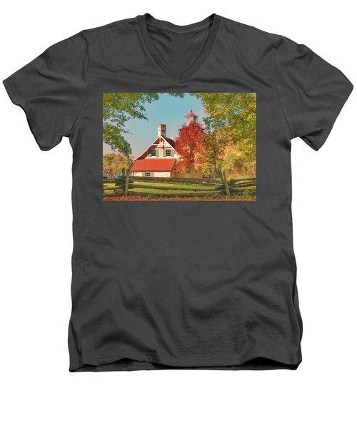 Eagle Bluff Lighthouse_1 Men's V-Neck T-Shirt