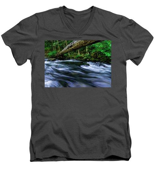 Eagle Creek Rapids Men's V-Neck T-Shirt