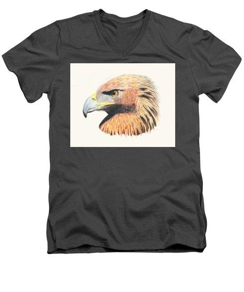 Eagle Eye Men's V-Neck T-Shirt by Stephanie Grant