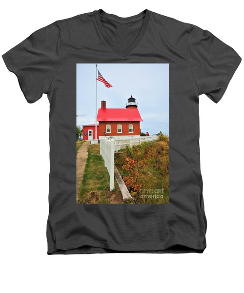 Eagle Harbor Lighthouse Men's V-Neck T-Shirt