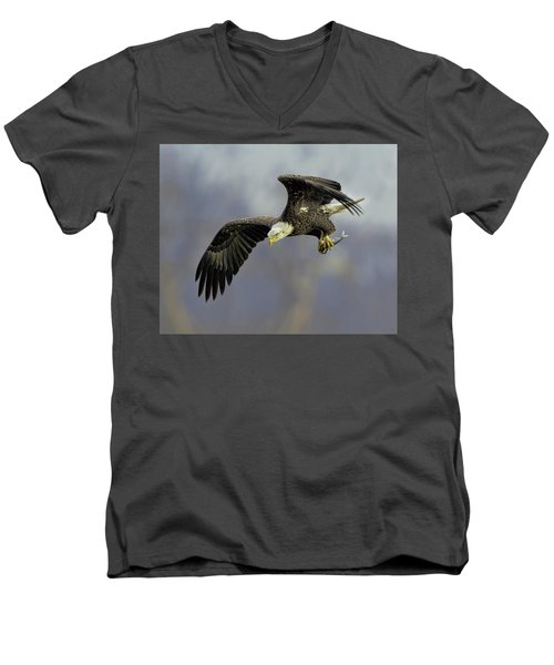 Eagle Power Dive Men's V-Neck T-Shirt
