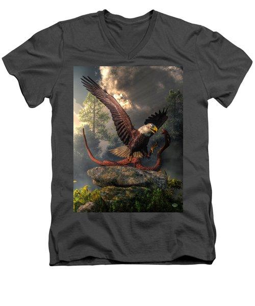 Eagle Vs Cobra Men's V-Neck T-Shirt