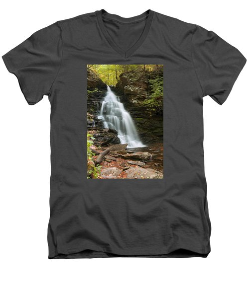 Early Autumn Morning Below Ozone Falls Men's V-Neck T-Shirt by Gene Walls