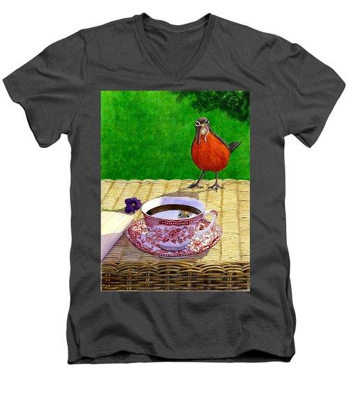 Early Bird Men's V-Neck T-Shirt