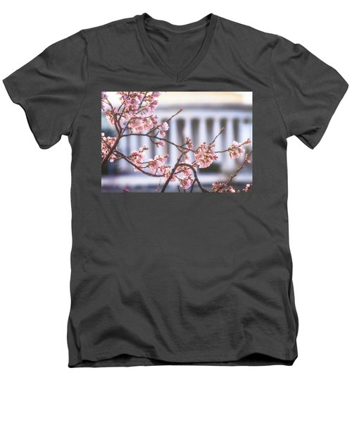Early Bloom Men's V-Neck T-Shirt by Edward Kreis