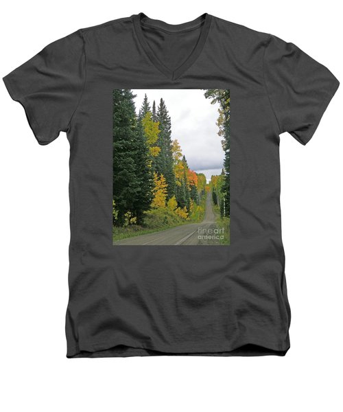 Early Fall Color Display In Colorado Men's V-Neck T-Shirt