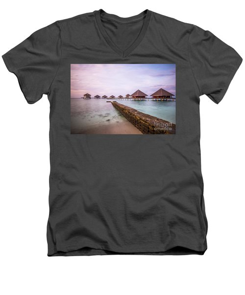 Men's V-Neck T-Shirt featuring the photograph Early In The Morning by Hannes Cmarits