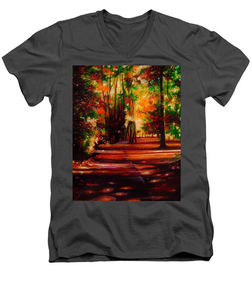 Early Monday Morning Men's V-Neck T-Shirt by Emery Franklin