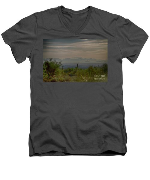 Men's V-Neck T-Shirt featuring the photograph Early Morning by Anne Rodkin