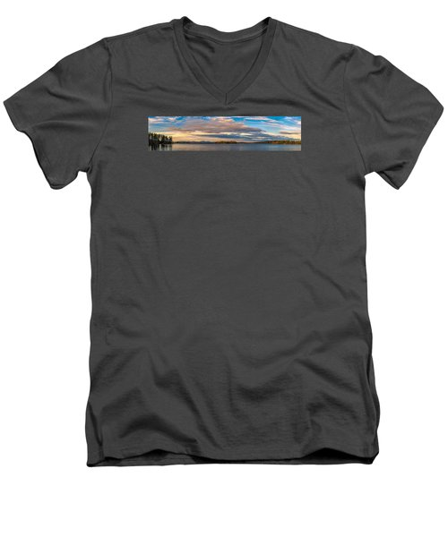 Early Morning At Lake Wentworth Men's V-Neck T-Shirt